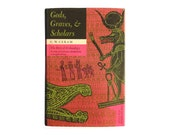 """SALE! Joseph Low book cover design, 1967. """"Gods, Graves, & Scholars: The Story of Archaeology"""" (revised edition) by C. W. Ceram"""