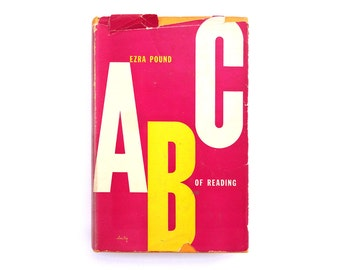 "Alvin Lustig book jacket design, 1949. ""ABC of Reading"" by Ezra Pound [New Directions, New Classics] NC30"