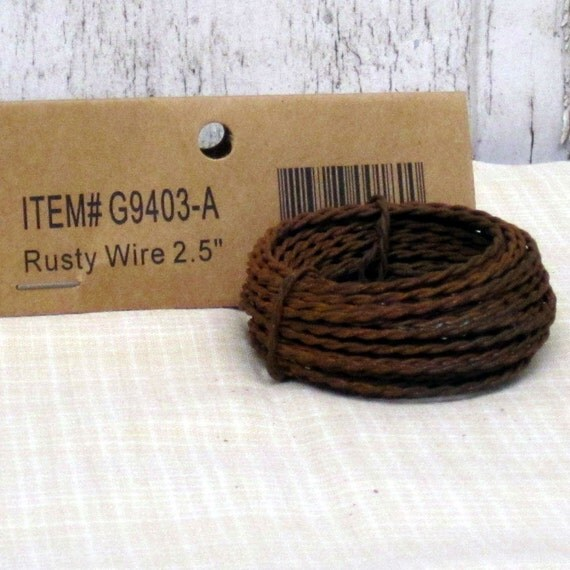 3 Rolls of Twisted Rusted Tin Wire 18 yds or 54 ft Primitive Crafts