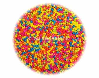 Summer Nonpareils Edible Sprinkles Cakepops Cupcake CandyConfetti Decorations 2oz.