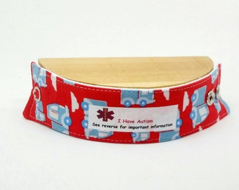 Toddler Safety ID Medical Alert Soft Fabric Bracelet