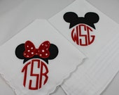 Set of 2 monogram machine embroidered wedding handkerchiefs by Simply Sweet Hankies