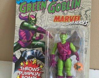 Early 1990s Green Goblin Action Figure still in Packing