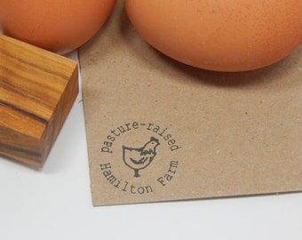 Custom Pastured Raised  Olive Wood Stamp