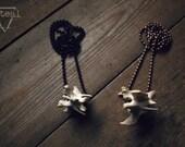 Raccoon Vertebrae - xlarge, antiqued copper chain