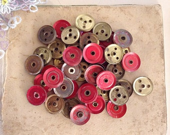 Twelve (12) Vintage Meccano Parts Wheels Pulleys or Cogs - Assemblage Steampunk and Altered Art Jewellery Supplies