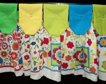 Hanging Kitchen Towels - Flowers - Flowers - Flowers