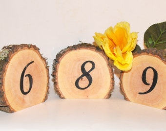 Large Wooden Wedding Table Numbers ~  Standing Numbers ~ Rustic Woodland wedding ~ Graduation Party Decoration ~ Anniversary ~ FREE SHIPPING
