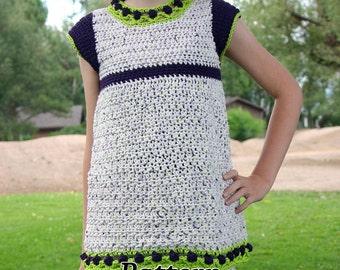 Girls top PDF crochet PATTERN size 2 4 6 8 10 12 14 16 childrens shirt tulips clothing feminine spring fashion cap sleeves flowers child