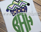 Sample Sale Mardi Gras Shirt, Monogrammed Personalized, Appliqued, Short or Long Sleeve Shirt, Totally Custom, Name Embroidered