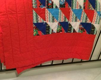 1970s Vintage Handmade Quilt