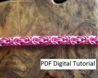 Byzantine Weave Chainmaille Bracelet Digital Download Tutorial