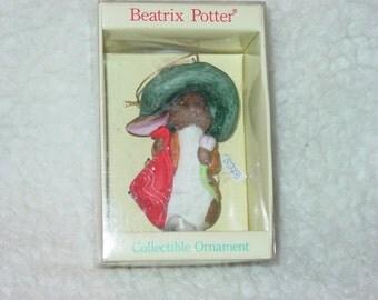 "Vintage Porcelain Schmid Christmas Holiday Ornament "" Beatrix Potter Benjamin Bunny """
