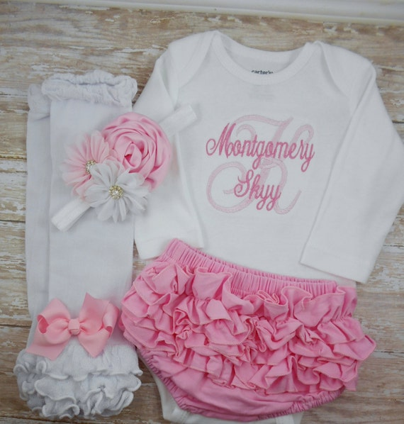 baby girl coming home outfit newborn girl clothes bloomer