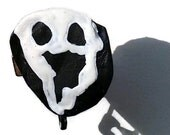 Big Mouth Ghost, Spooky Face, Ghost Halloween Upcycled Pin Recycled Bent Bottle Cap Glow in the Dark Ghost Halloween Pin  shipping included