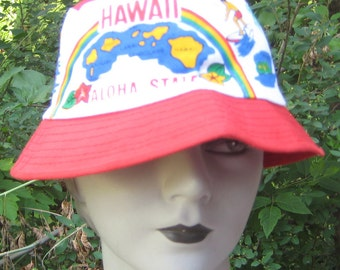 I went On Vacation Vintage 1970s Hat Hawaii Aloha State
