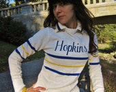 50s varsity sweater - embroidered HOPKINS sweater - cheerleading sweater
