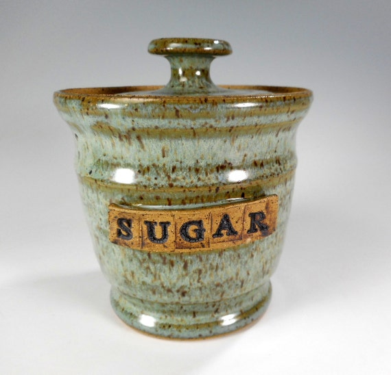 Ceramic Sugar Bowl With Lid Pottery Sugar Bowl Jar With Lid