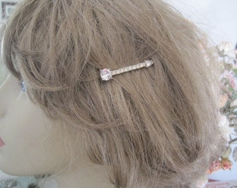 Vintage Rhinestone Bobby Pin Hair Pins Bridal Accessory FREE SHIP
