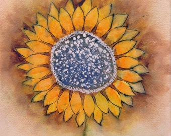 Sunflower Abstract Art Print