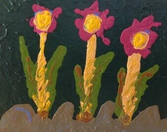 Three Sisters Abstract Art Print