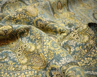 15567 19 Aqua Duralee Fabric REMNANT 56 inches x 33 inches