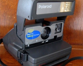 Vintage Polaroid One Step Close Up Talking Camera 600 Film USA Tested Works