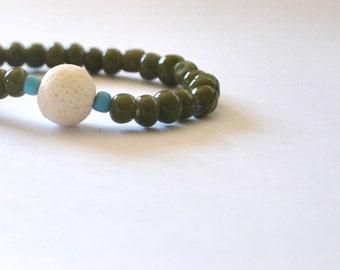 Stretch Bracelet / Stretchy Bracelet / Stackable Bracelet / Handmade Bracelet / Natural Bracelet / Bohemian Jewelry / Boho Bracelet / Glass