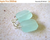 20% OFF ON SALE Ice Green Chalcedony Silver  Wire Wrapped Faceted Rectangle Dangle, 2 pcs, Gemstone Beads