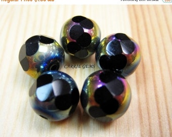 20% OFF ON SALE Fire Polished Glass Faceted Round 10mm Beads,10 pcs