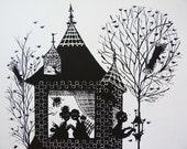 Bjorn Wiinblad Four Seasons Winter print 1962