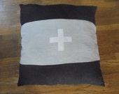 Swiss Cross Linen Pillow
