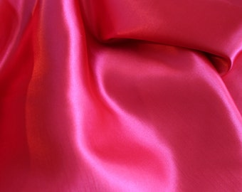Fabric - Polyester Shantung in Red - Dupioni