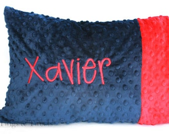 Personalized Toddler Pillow Case- You Pick The Colors