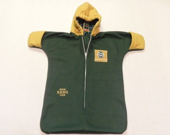 NCAA Colorado State RAMS fleece Baby Bunting Coat Newborn to 6 months