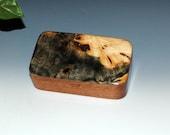 Handmade Wood Treasure Box, Gift or Business Card Box, Small Wood Box -  Buckeye Burl on Mahogany by BurlWoodBox - Wooden Boxes, Wood Box