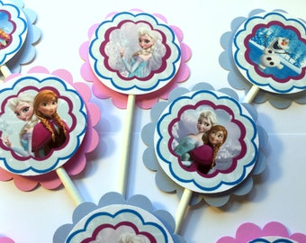30 Frozen Cupcake Dimensional Party Toppers *Ready to Ship*