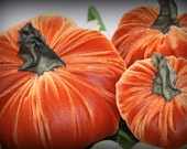 D.I.Y. Velvet Pumpkin Set of Three - D.I.Y. Orange