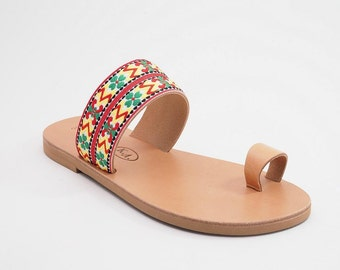 SALE -20% Ethnic Greek sandals