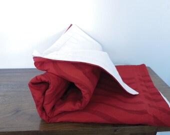 modern quilt marimekko fabric red toddler blanket throw baby