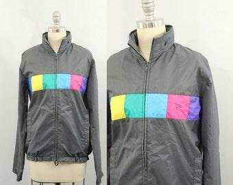 90s windbreaker - vintage neon windbreaker - 90s jacket - colorblock jacket - 90s clothing - unisex - ocean pacific - op - medium small