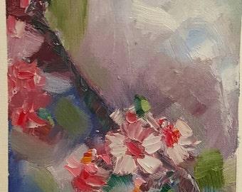 Spring blossoms 1. Original oil painting. Affordable original painting. Small painting.