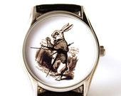 ON SALE 25% OFF Watch White Rabbit, Alice in wonderland, mens watch, ladies watch