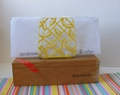 Vintage Lustro Ware Napkin Holder, Serviette Holder, Letter Holder, Plastic, Yellow
