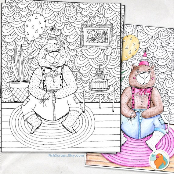whimsical bear coloring pages - photo#18