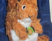 Red Squirrel Toy, Russet Squirrel Toy, Plush Squirrel Toy. Squirrel Toy with Felt Acorn, Stuffed Animal Doll, Easter Present, Toy for Tots.