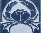 4x4 Crab - Etched Tile Coaster