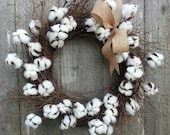 Cotton blossom twig wreath