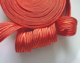 Moroccan art silk trim, fiesta orange, medium,  5 metres