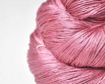 Spilled raspberry smoothie - Silk Lace Yarn - knotty skein